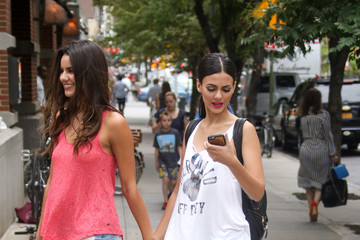 Victoria Justice Madison Justice Madison and Victoria Justice Out in NYC