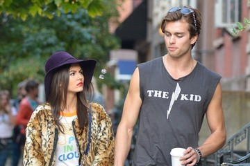 Victoria Justice Pierson Fode Victoria Justice and Pierson Fode on Set in NYC