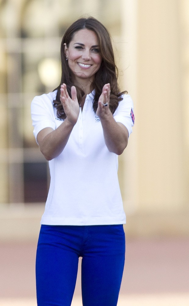 Kate Middleton Photos - Will, Kate and Harry receive the Olympic Torch - Zimbio