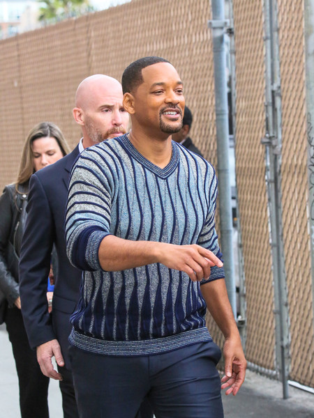 Will Smith At 'Jimmy Kimmel Live'