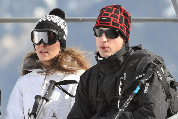 william and kate skiing photo. Prince William and Kate