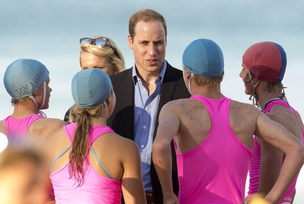Prince William and Catherine, Duchess of Cambridge visit Manley Beach, Sydney, during their tour of Australia and New Zealand.