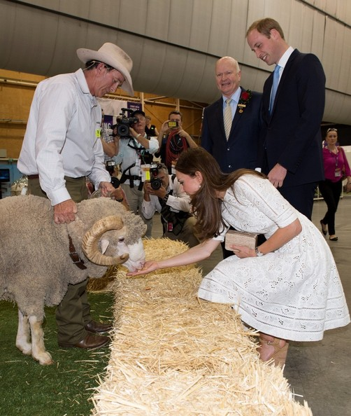 Duke and Duchess of Cambridge on their tour of New Zealand and Australia visit the Royal Easter Show at Sydney Olympic Park.