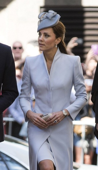 20th April, 2014:  Prince William and Catherine, Duchess of Cambridge attend St Andrews Church in Sydney on Easter Sunday, during their tour of Australia and New Zealand.