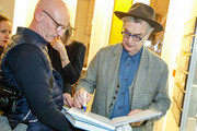 Torsten Pauer and Wim Wenders are seen at Exhibition opening 'Early Photographs 1963-1983' and retrospective at Film Archive Austri at the Metro Kinoulturhaus .