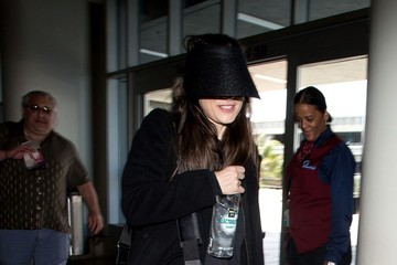 Winona Ryder Winona Ryder Arrives at LAX