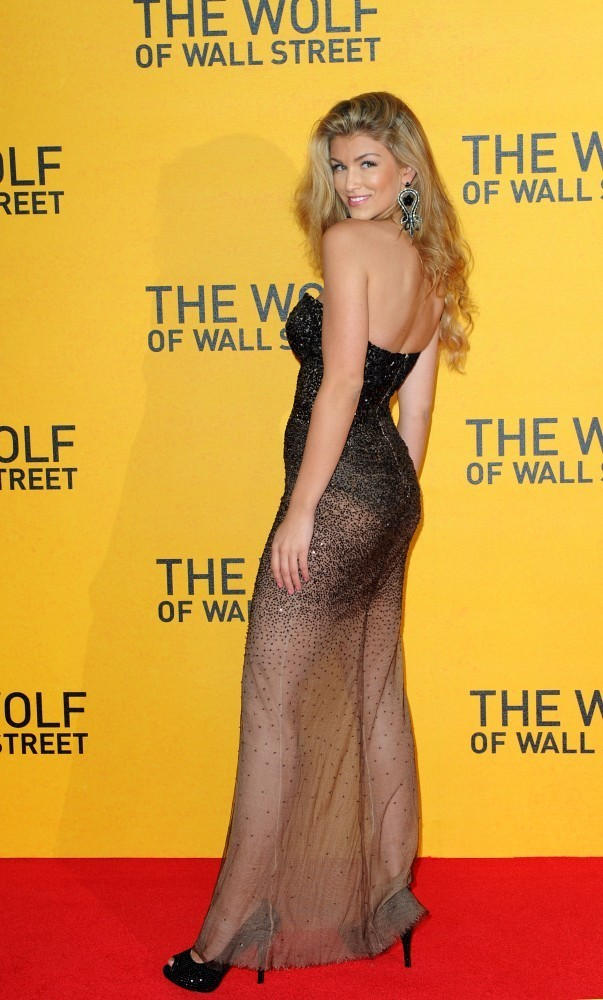 'The Wolf Of Wall Street' UK premiere held at the Odeon Leicester Square, London.Here, Amy Willerton.
