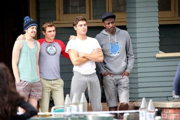 Zac Efron Christopher Mintz-Plasse Scenes From the 'Townies' Set