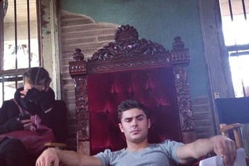 Zac Efron Celebrity Social Media Pics