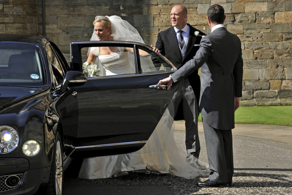 Zara Phillips and Mike Tindall at Canongate Kirk