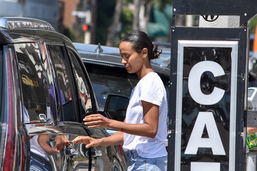 Zoe Saldana Zoe Saldana Is Seen Out and About With Her Family