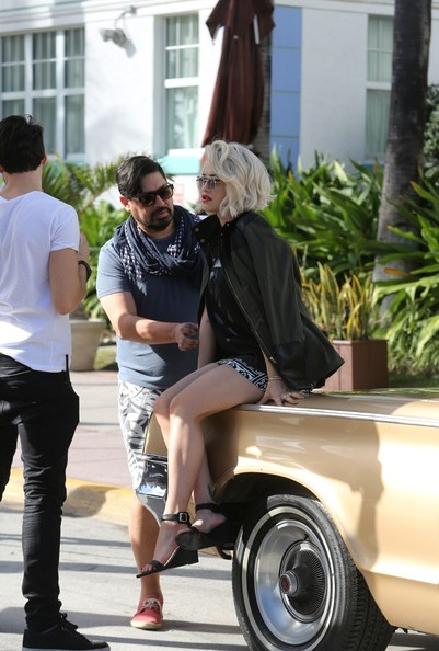 Rita Ora poses in Miami on December 10, 2013.