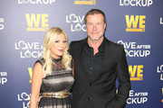 Tori Spelling and Dean McDermott are seen arriving at WE tv's Real Love: Relationship Reality TV's Past, Present & Future event at The Paley Center for Media in Los Angeles, California.
