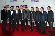 Celebrities arrive at the American Music Awards at the Nokia Theatre LA Live in Los Angeles.
