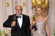 Celebrities pose in the press room at the 84th Annual Academy Awards held at the Hollywood & Highland Center on February 26, 2012 in Hollywood, CA. <br /> Pictured: Dante Ferretti, Francesca Lo Schiavo