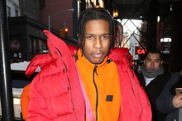 ASAP Rocky A$AP Rocky Dressed In Cold Weather Gear In NYC