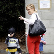Abel Arnett Amy Poehler Takes Her Sons To A Costume Party