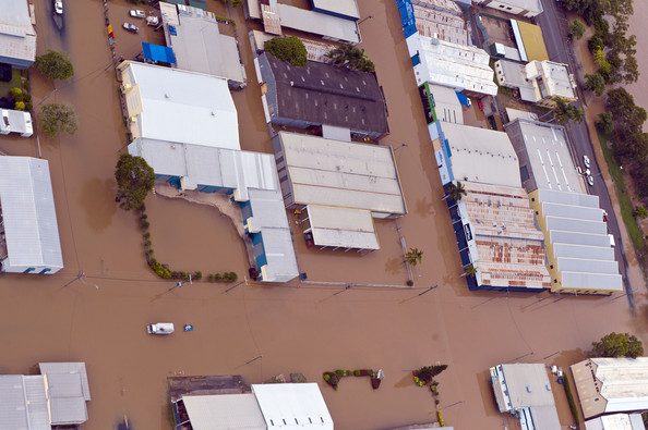 Aerial Views Of The Flooding In Rockhampton, Queensland