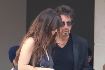 Al Pacino Lucila Sola Al Pacino Lunches in Beverly Hills