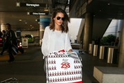 Alessandra Ambrosio Arriving on a Flight at LAX