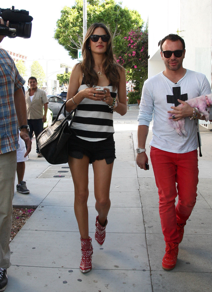 Model Alessandra Ambrosio and Matheus Mazzafera were seen while out for some shopping in West Hollywood, California on July 19th, 2012