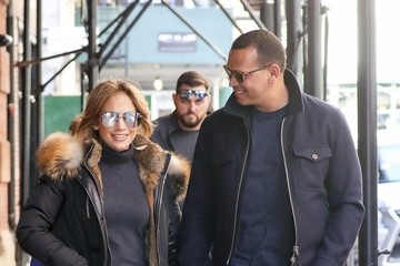 Alex Rodriguez Jennifer Lopez Jennifer Lopez and Alex Rodriguez Are All Smiles While Out in Soho