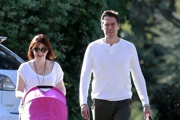 Alexis Denisof Alyson Hannigan Takes a Stroll With Her Family