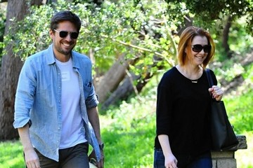Alexis Denisof Alyson Hannigan and Alexis Denisof Out for a Hike