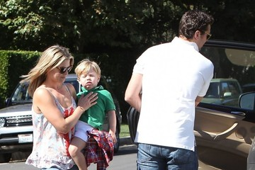 Ali Larter Theodore MacArthur Ali Larter & Family Stopping By A Friends House