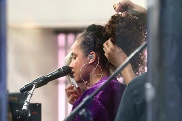 Alicia Keys Celebrities At 'The Today Show'