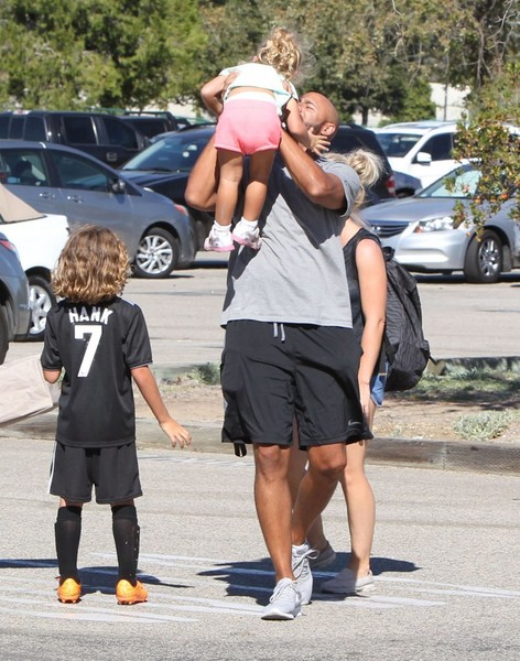Kendra Wilkinson and Her Family Attend Her Son's Soccer Game