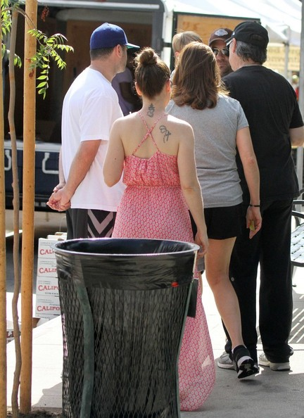 Alyssa Milano Out with Her Family at the Farmer's Market []