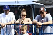 Actress Alyssa Milano spent some time over the Labor Day weekend with her son, Milo Bugliari, and her hubby, Dave Bugliari, at the farmer's market in Studio City, California on September 1, 2013.