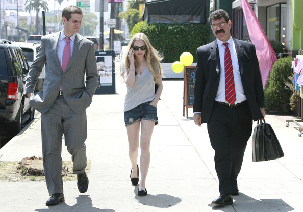 Actress Amanda Seyfried and her lawyers out for lunch in Hollywood, CA.
