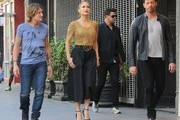 'American Idol' judges Jennifer Lopez, Keith Urban, and Harry Connick Jr. are seen filming for the 'Hollywood Week' auditions on October 29, 2014 in Los Angeles, California. The 14th season of American Idol is set to premiere on the FOX network on January 14, 2015.