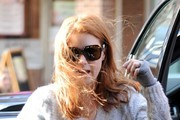 Amy Adams Battles the Wind in NYC
