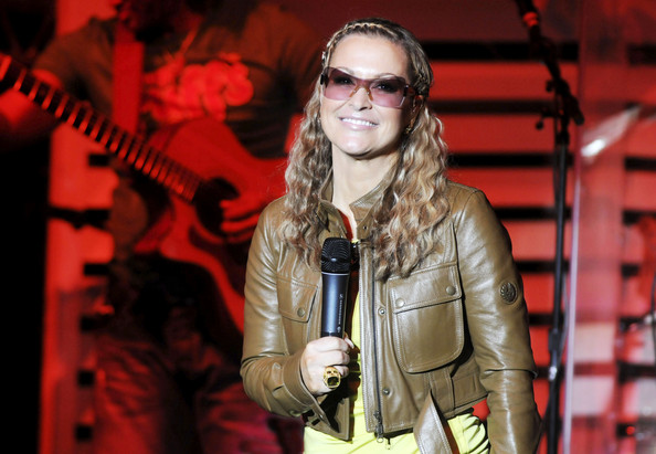 Singer Anastacia performs live on stage during her concert in Munich.