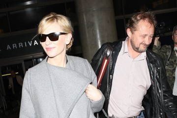 Andrew Upton Cate Blanchett and Andrew Upton at LAX