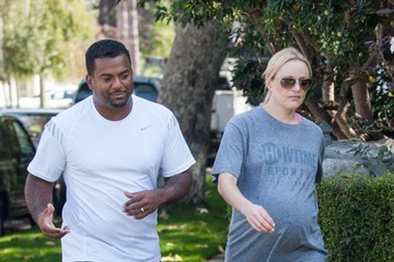 Angela Unkrich Alfonso Ribeiro and His Wife Take a Stroll