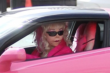 Angelyne Angelyne Stops by the Post Office in Beverly Hills