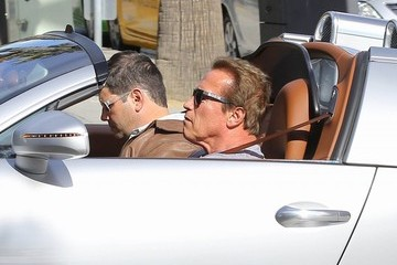 Arnold Schwarzenegger Arnold Schwarzenegger Goes for a Ride