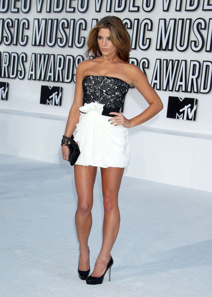 Ashley Greene Celebrities arrive at the 2010 MTV Video Music Awards at the Nokia Theatre in L.A. Live in Los Angeles.