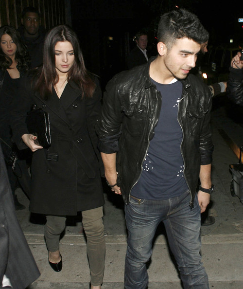 Ashley Greene Couple Joe Jonas and Ashley Greene on a night out at Club Premiere in West Hollywood, CA.
