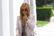 Ashley Tisdale Stops By An Office Building