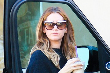 Ashley Tisdale Ashley Tisdale Gets Iced Coffee in Studio City