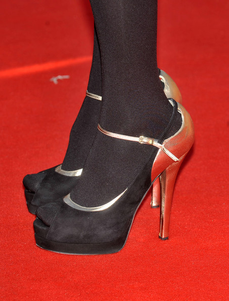 Asia Argento wore a pair of two-toned peep-toe pumps at the 4th Rome International Film Festival.