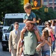 August Matthews Dave Matthews Out with His Kids in NYC