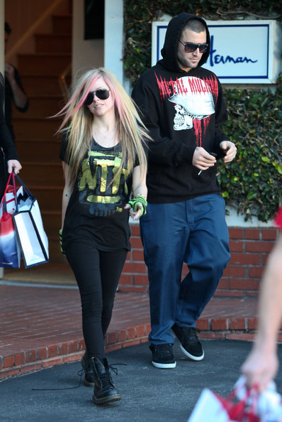 Avril Lavigne and Brody Jenner were spotted out shopping at Fred Segal on