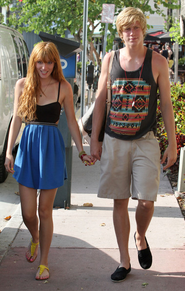 "Exclusive… Child actress and ""Shake it Up"" star Bella Thorne was seen while out with her boyfriend in Miami, Florida on June 3, 2012."