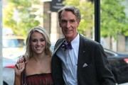 'Dancing With The Stars' celebs Bill Nye and Tyne Stecklein check into their New York City, New York hotel on October 1, 2013. Bill was recently eliminated from the hit dancing competition and also suffered a torn ligament during his performance!